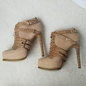 Dior Guetre Leather Platform Booties